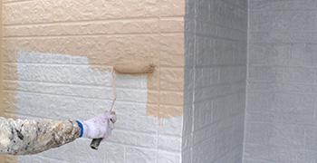 外壁塗装(中塗り)