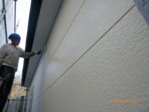 2F外壁中塗り2回目