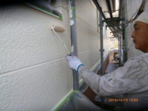 2F外壁 上塗り3回目