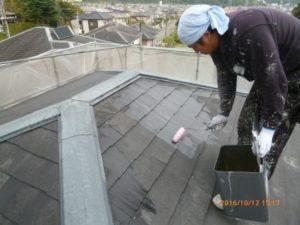 屋根 塗装下地