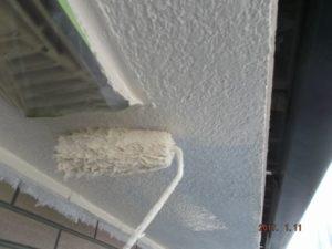 軒天井中塗り