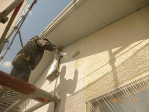 2F外壁中塗り上塗り1回目