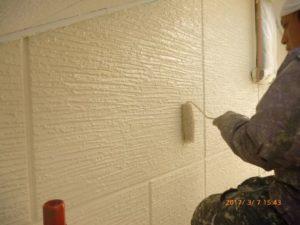 2F外壁上塗り2回目