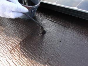 屋根破損部タッチアップ
