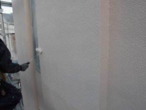 外壁上塗り2回目