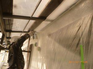 外壁光触媒吹付