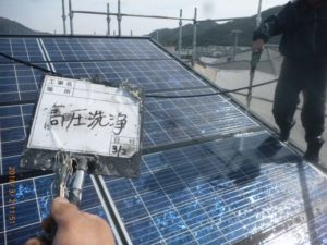 太陽光パネル高圧洗浄-1