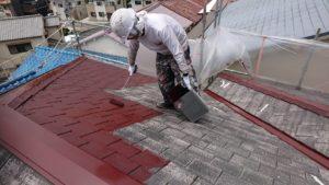 屋根上塗り(1)