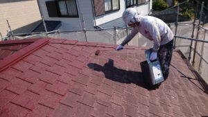 屋根上塗り(2)