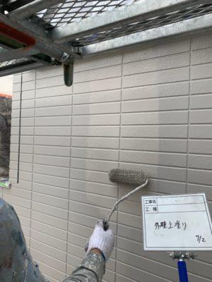 外壁上塗り2回目(2)