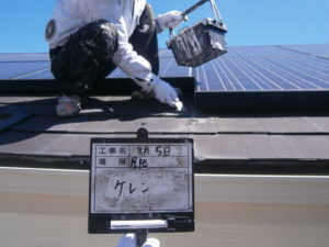 屋根塗装前ケレン