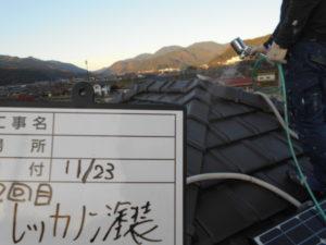 屋根レッカノン塗布