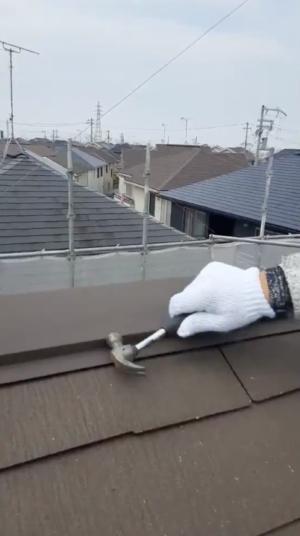 屋根釘打ち
