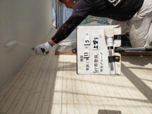 軒天塗装2回目