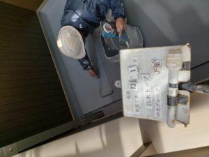ベランダ防水塗装1回目