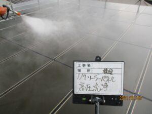 ソーラーパネル高圧洗浄