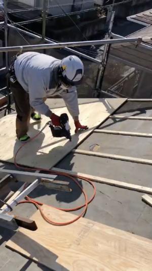 構造用合板取り付け