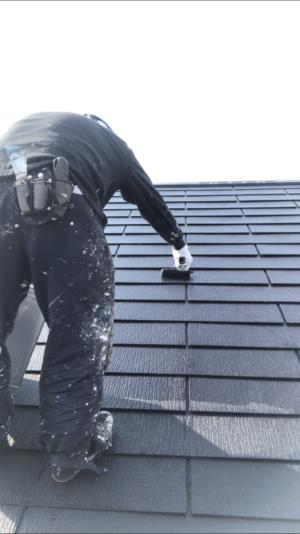屋根塗装2回目