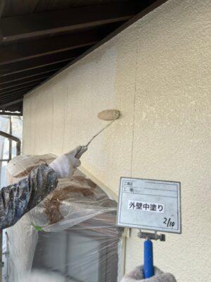 外壁中塗り