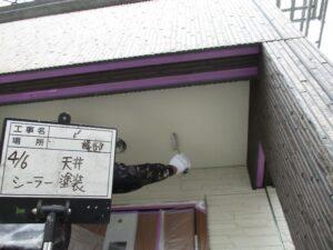 軒天下地塗装