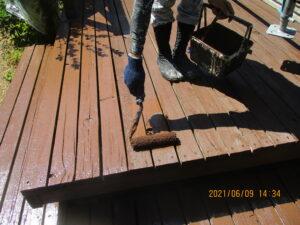 木部塗装2回目
