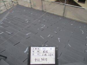 屋根割れ補修
