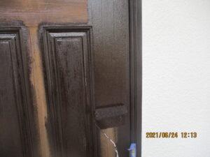 玄関ドア木部塗装
