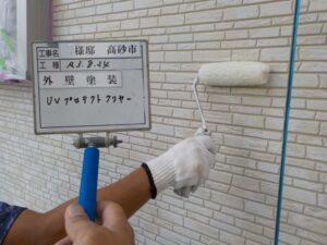 外壁クリア塗装1回目