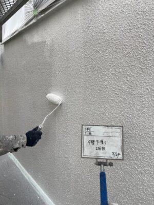 外壁下塗り2回目